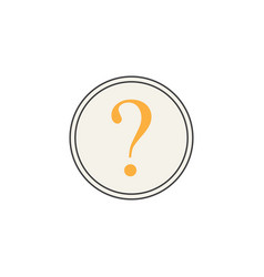 Question mark line icon help sign faq vector