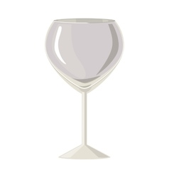 Silhouette gray scale with champagne glass vector