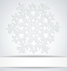 Snowflake with white banner Background for winter vector image vector image