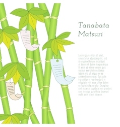Tanabata festival hand drawn bamboo tree with vector