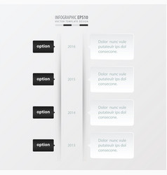 Timeline template template black and white color vector