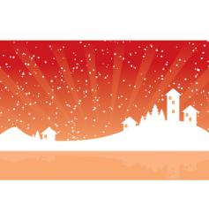winter silhouette vector image vector image