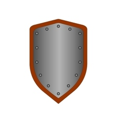 Sign shield silver 1708 vector