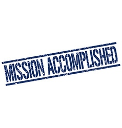 Mission accomplished stamp vector