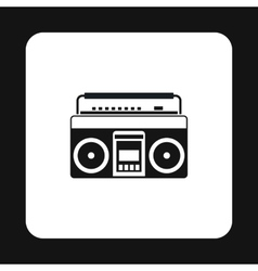 Boombox or radio cassette tape player icon vector image