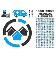 Realty Diagram Icon with 1000 Medical Business vector image