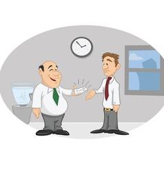 boss employee paycheck vector image