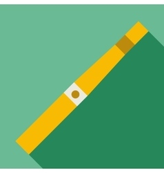 Yellow electronic cigarette icon flat style vector