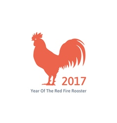 red fire rooster symbol of 2017 vector image
