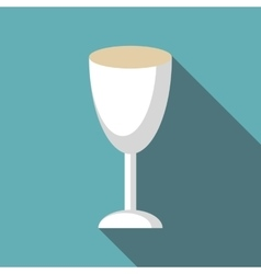 Wine glass icon flat style vector