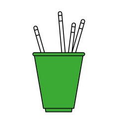 Cup with pencils design vector