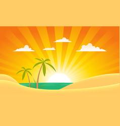 Summer ocean landscape banner vector