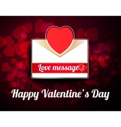 Valentine mail message with heart vector image