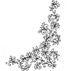 floral vignette vector image