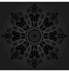 Orient ornamental round lace vector