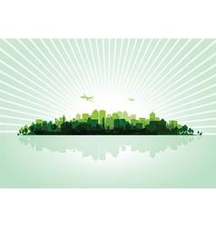Green cityscape vector
