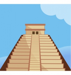 Aztec temple vector