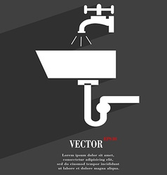 Washbasin icon symbol flat modern web design with vector