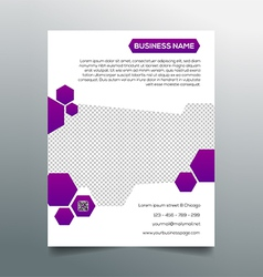 Business flyer template - creative purple design vector