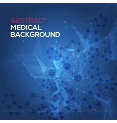 Medical abstract background abstract polygonal vector