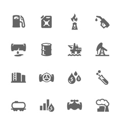 Simple oil icons vector