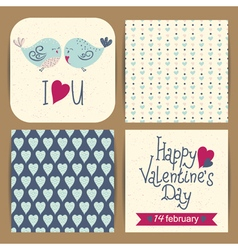 cards templates set vector image