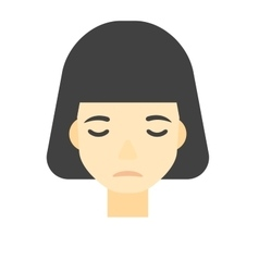 Grieving woman with eyes closed vector