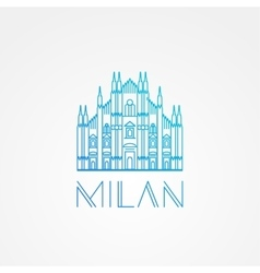 World famous milan cathedral greatest landmarks vector