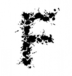 alphabet ink f vector image vector image