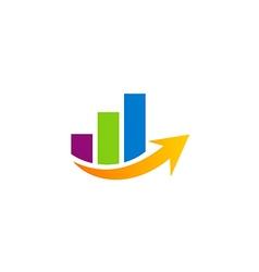 Business finance graph arrow logo vector