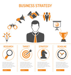 Business strategy process concept vector