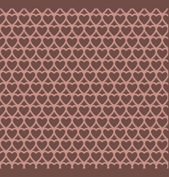 Chocolate heart design pattern background vector