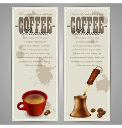 Coffee menu design vector image vector image