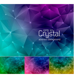 crystal abstract background 8 vector image vector image