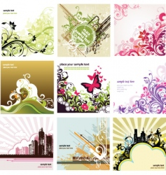 design set vector image vector image