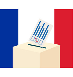 Election in france concept vector