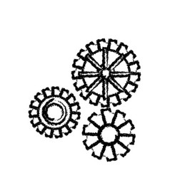 Gear work mechanical cooperation sketch vector