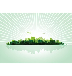 Green cityscape vector