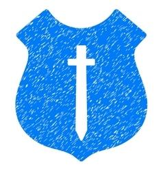 Guard shield grainy texture icon vector