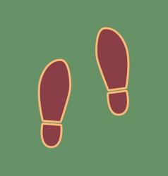 Imprint soles shoes sign cordovan icon vector