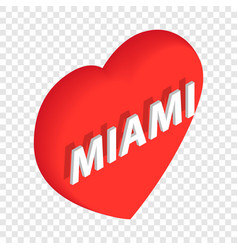 Love miami isometric icon vector