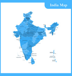 Map of india and sri lanka vector