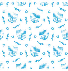 menorah seamless pattern isolated on white vector image