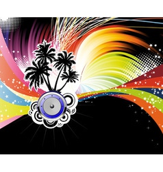 night disco poster vector image vector image