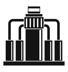 Oil refining icon simple style vector
