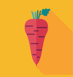 parsnip root flat icon vegetable vector image
