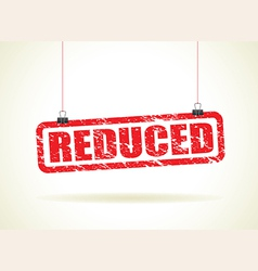reduced red vector image vector image