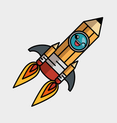 Rocket launcher character isolated icon vector