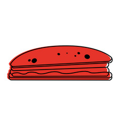sandwich food icon image vector image vector image