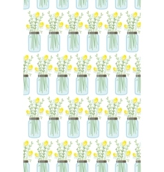 Seamless floral pattern with bouquet of daisies in vector image vector image